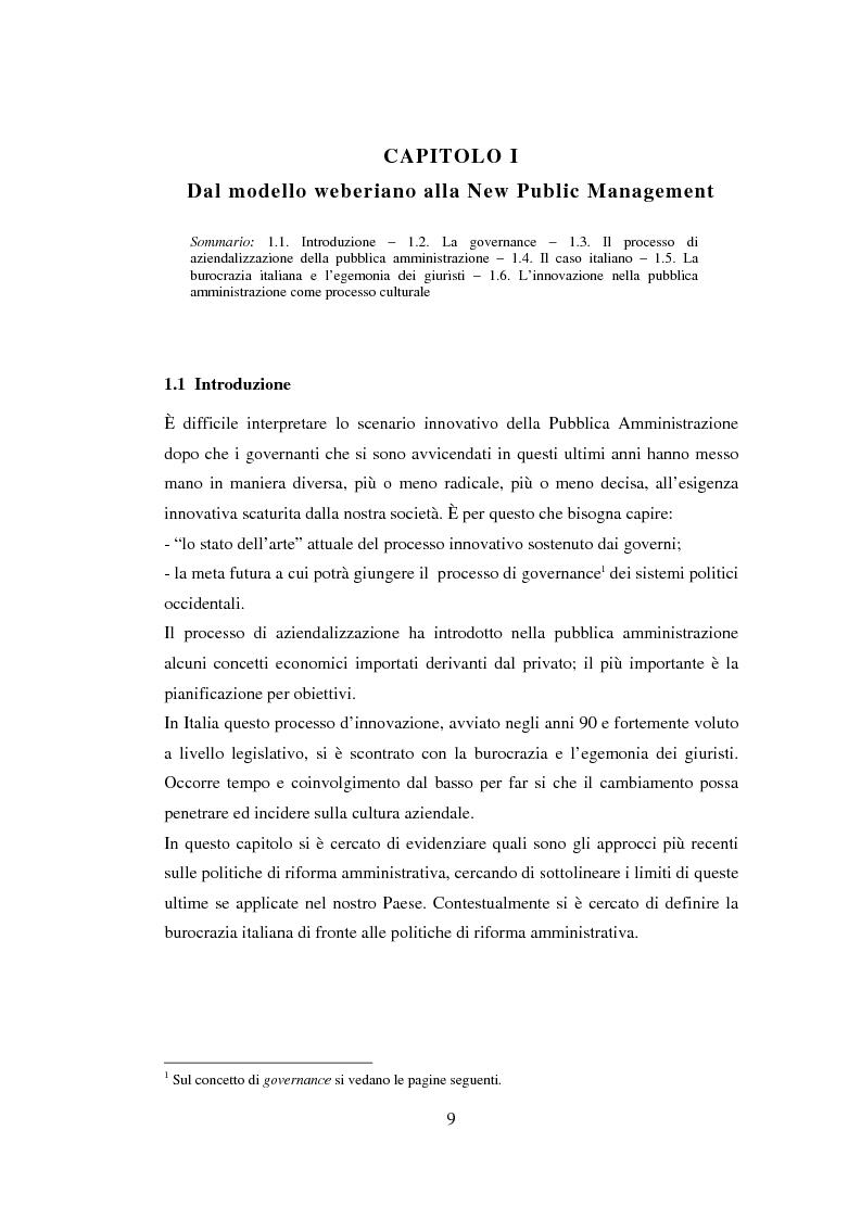 Anteprima della tesi: Semplificazione e partecipazione nella pubblica amministrazione. L'esperienza della A.S.L. di Cremona, Pagina 5