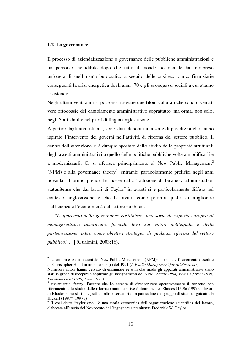 Anteprima della tesi: Semplificazione e partecipazione nella pubblica amministrazione. L'esperienza della A.S.L. di Cremona, Pagina 6