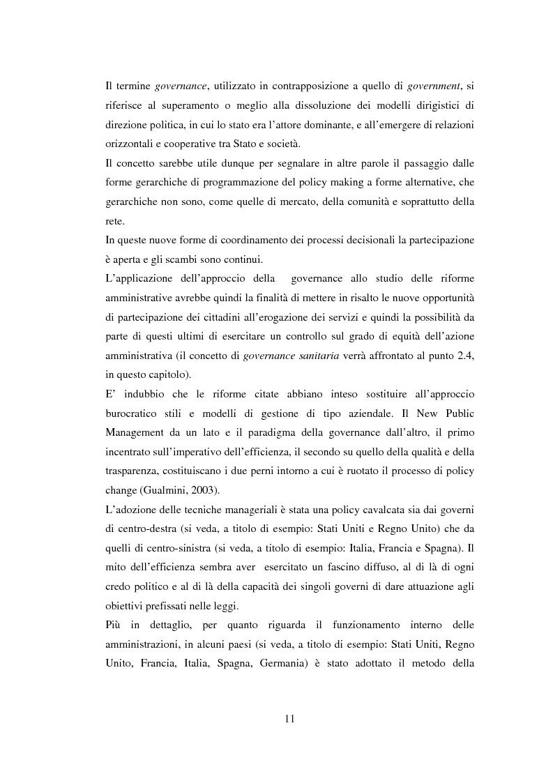 Anteprima della tesi: Semplificazione e partecipazione nella pubblica amministrazione. L'esperienza della A.S.L. di Cremona, Pagina 7