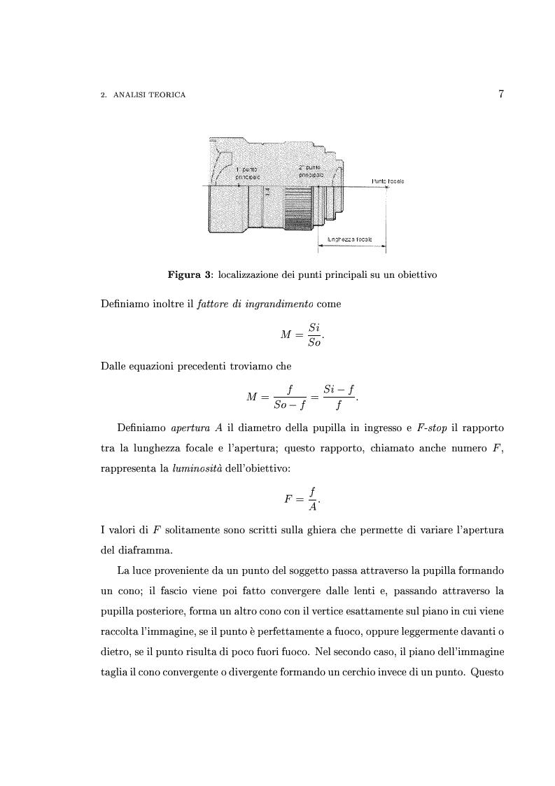 Anteprima della tesi: Interfaccia software per l'analisi e la verifica sperimentale delle componenti ottiche di sistemi di visione robotici, Pagina 7