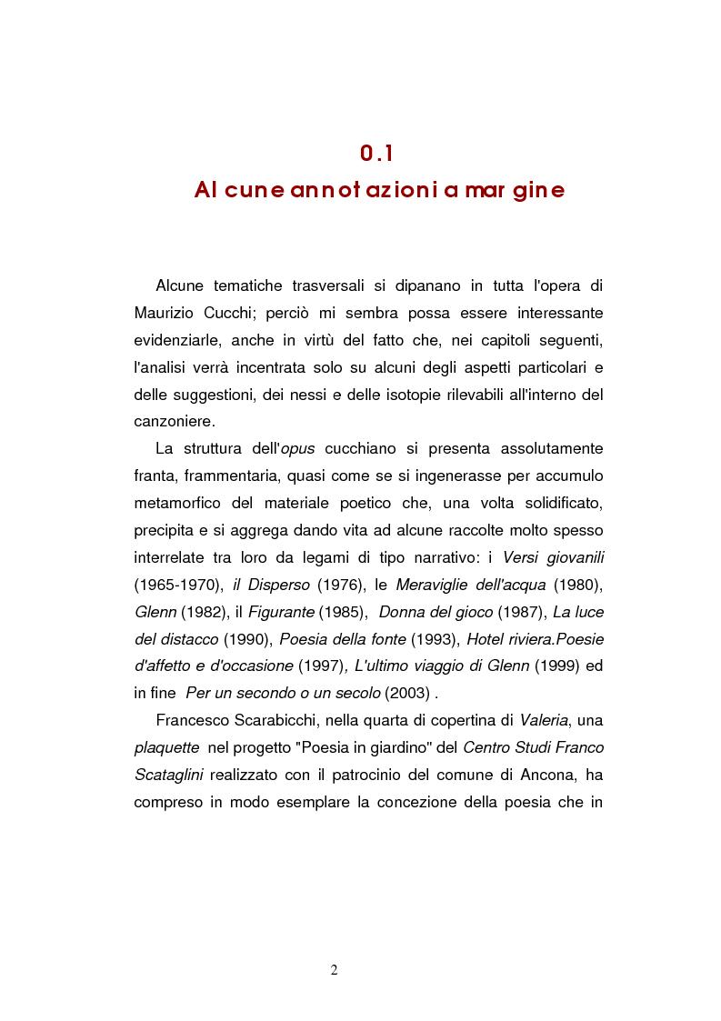 Anteprima della tesi: Sguardi e oggetti nell'opera di Maurizio Cucchi, Pagina 2