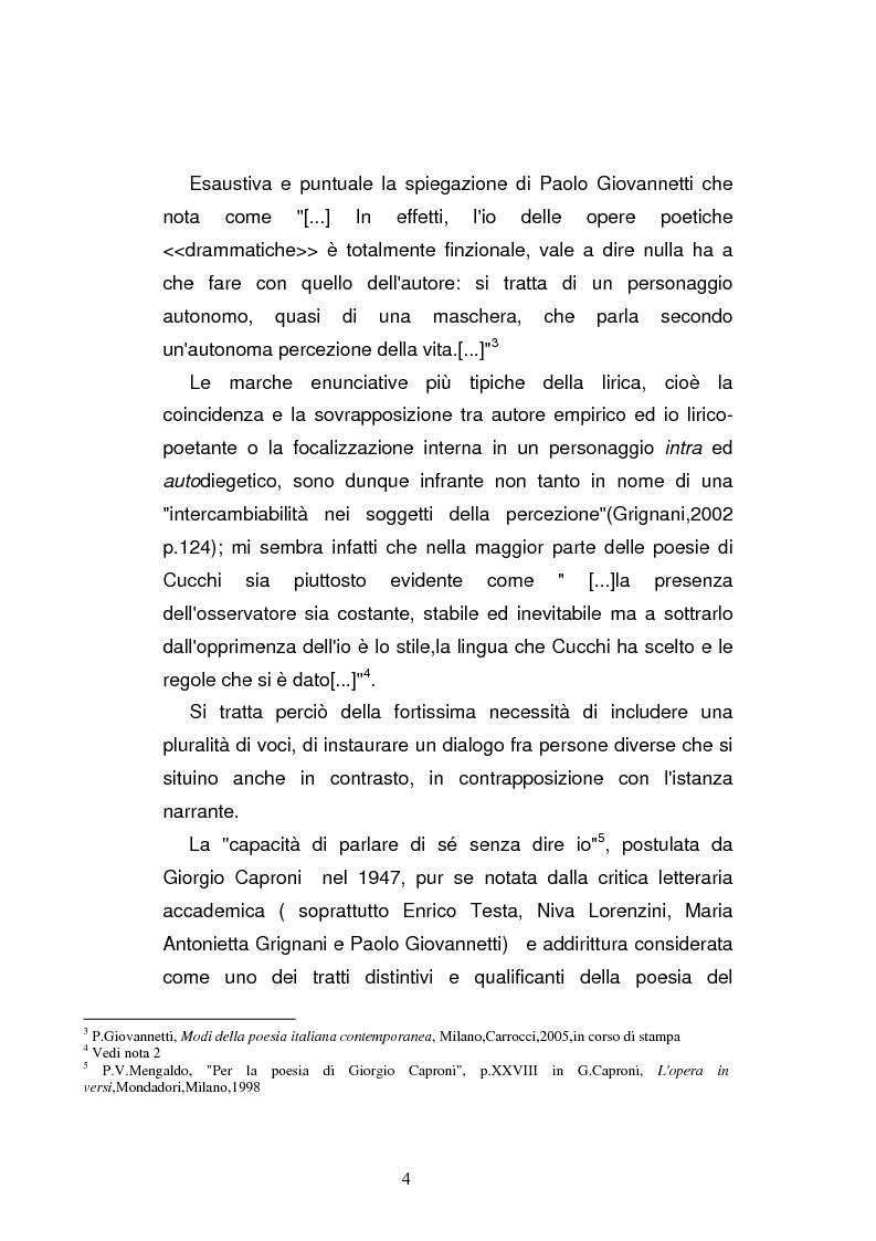 Anteprima della tesi: Sguardi e oggetti nell'opera di Maurizio Cucchi, Pagina 4