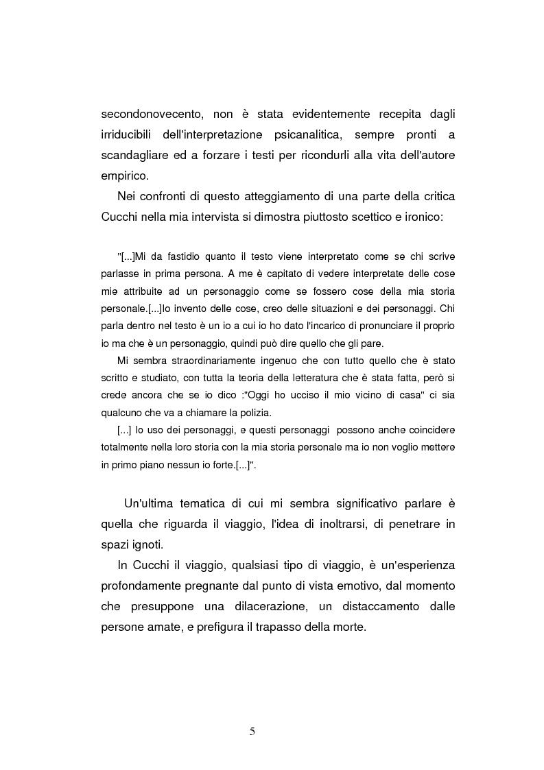 Anteprima della tesi: Sguardi e oggetti nell'opera di Maurizio Cucchi, Pagina 5