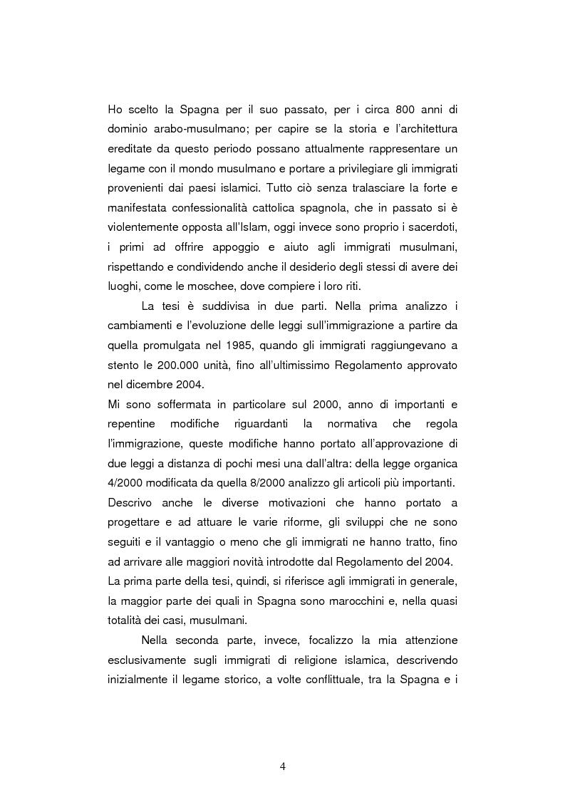 Anteprima della tesi: Le leggi sull'immigrazione e l'integrazione dei musulmani in spagna nella seconda metà del XX secolo, Pagina 2
