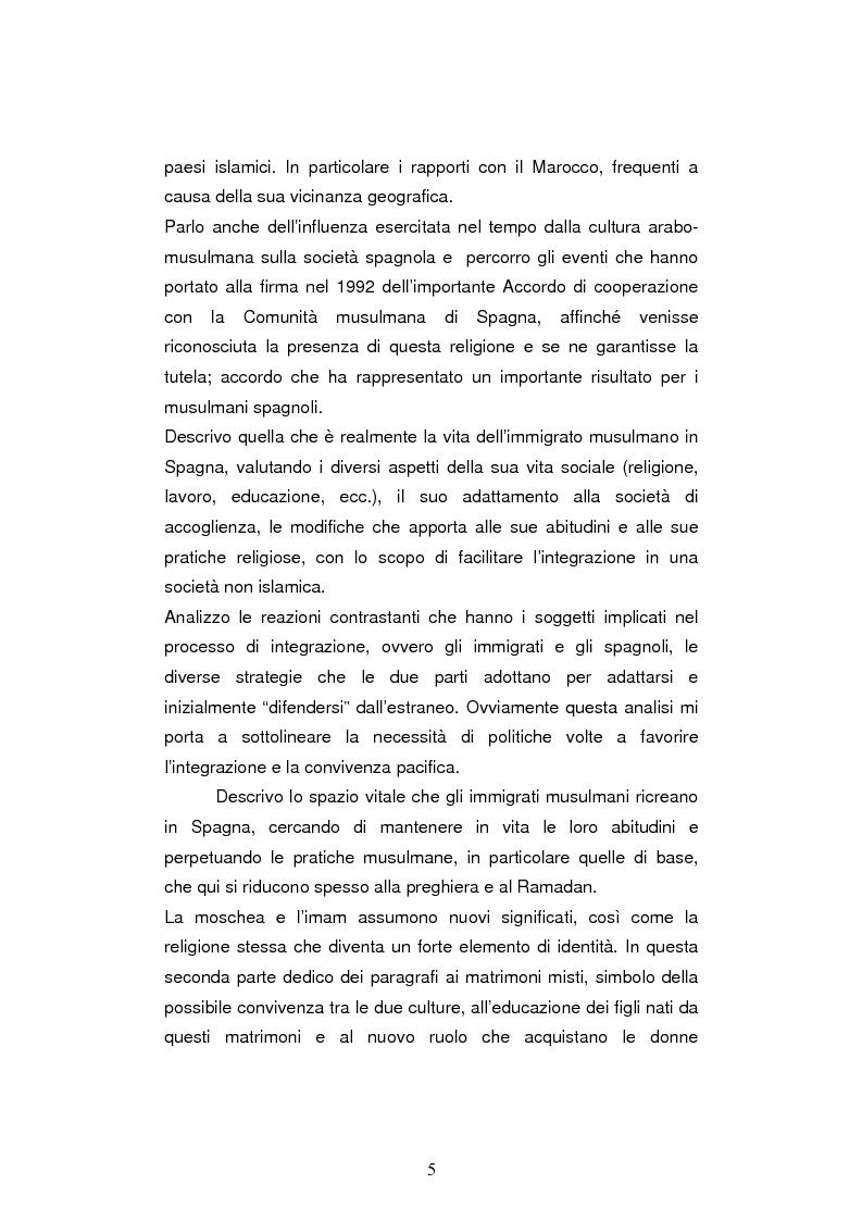Anteprima della tesi: Le leggi sull'immigrazione e l'integrazione dei musulmani in spagna nella seconda metà del XX secolo, Pagina 3