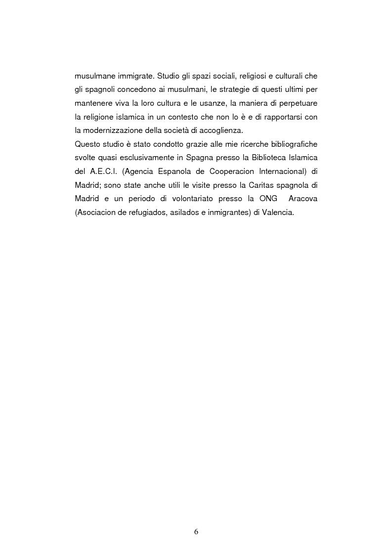 Anteprima della tesi: Le leggi sull'immigrazione e l'integrazione dei musulmani in spagna nella seconda metà del XX secolo, Pagina 4