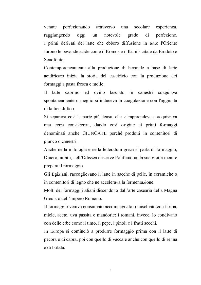 Anteprima della tesi: Studio per il miglioramento del caciocavallo di Vastogirardi, Pagina 2