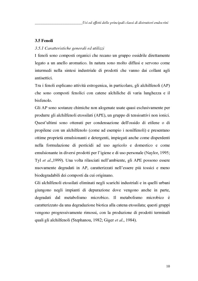 Anteprima della tesi: Alchilfenoli e metalli pesanti ad attività endocrino-mometica: possibili interazioni, Pagina 10