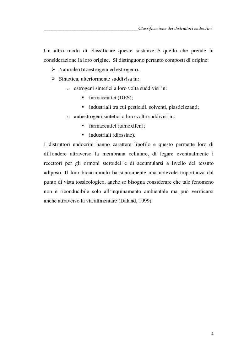 Anteprima della tesi: Alchilfenoli e metalli pesanti ad attività endocrino-mometica: possibili interazioni, Pagina 4