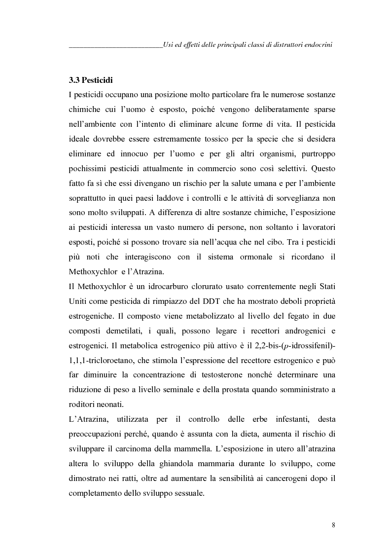 Anteprima della tesi: Alchilfenoli e metalli pesanti ad attività endocrino-mometica: possibili interazioni, Pagina 8