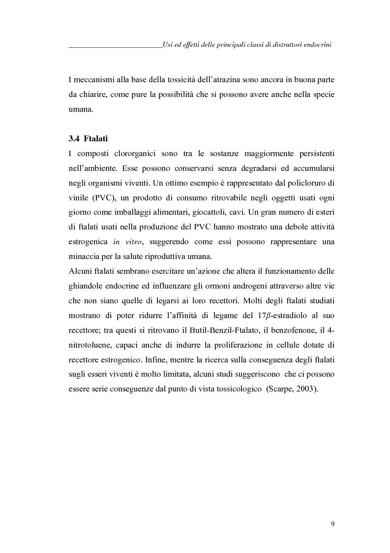 Anteprima della tesi: Alchilfenoli e metalli pesanti ad attività endocrino-mometica: possibili interazioni, Pagina 9
