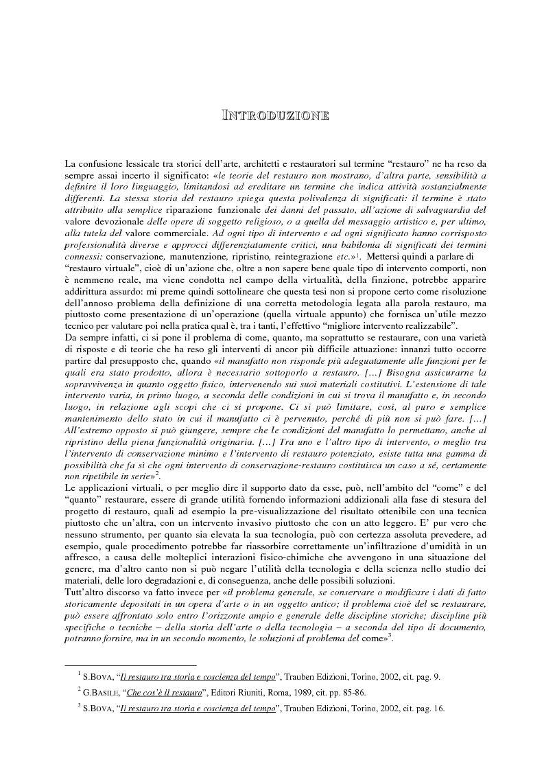 Anteprima della tesi: Il restauro virtuale, Pagina 1