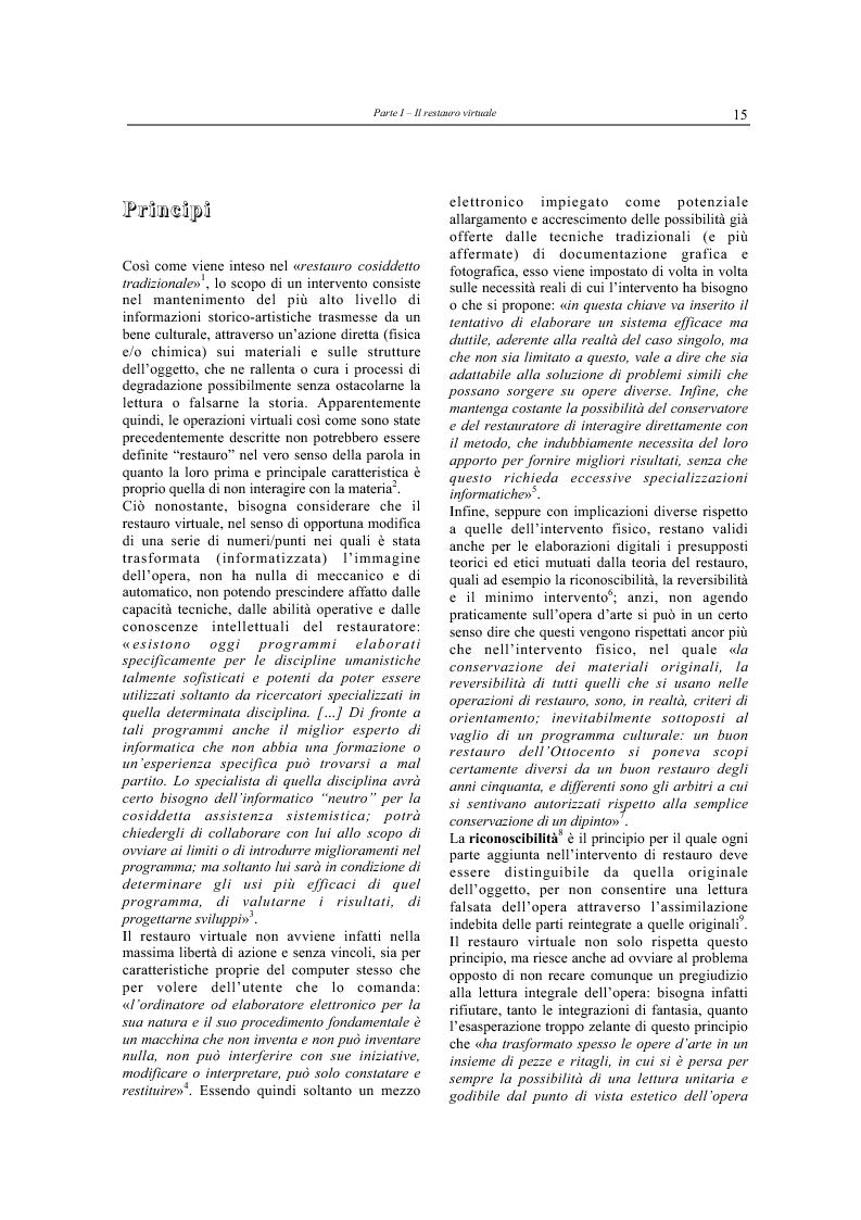 Anteprima della tesi: Il restauro virtuale, Pagina 10