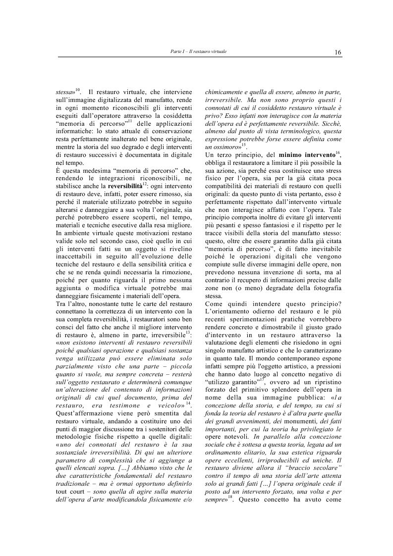 Anteprima della tesi: Il restauro virtuale, Pagina 11