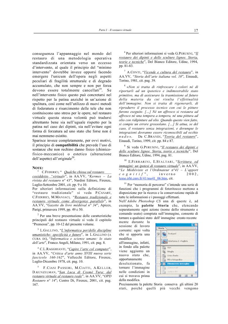 Anteprima della tesi: Il restauro virtuale, Pagina 12