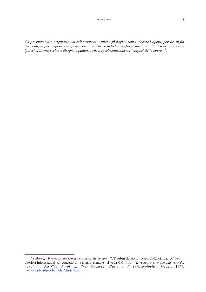 Anteprima della tesi: Il restauro virtuale, Pagina 3