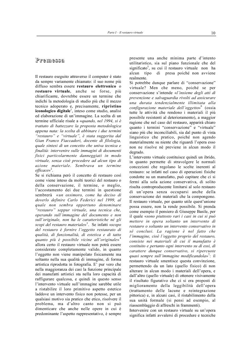 Anteprima della tesi: Il restauro virtuale, Pagina 5