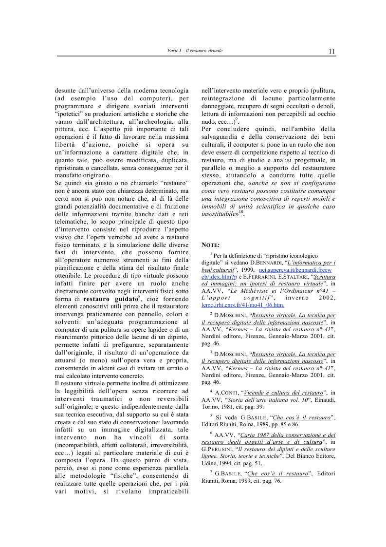 Anteprima della tesi: Il restauro virtuale, Pagina 6