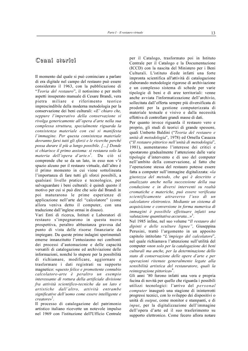 Anteprima della tesi: Il restauro virtuale, Pagina 8