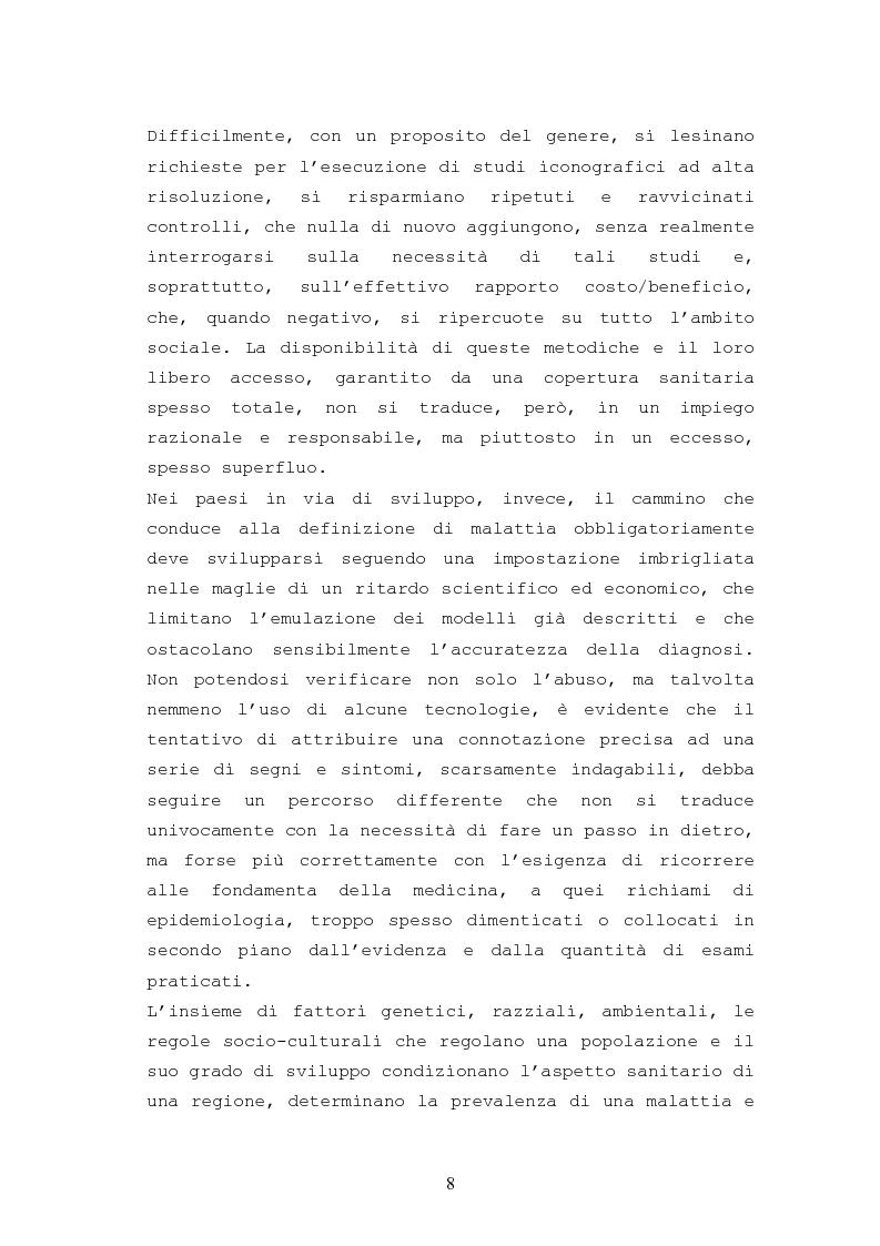 Anteprima della tesi: Patologie urologiche e welfare: confronto tra realtà italiana e di alcune aree del Sud America, Pagina 5