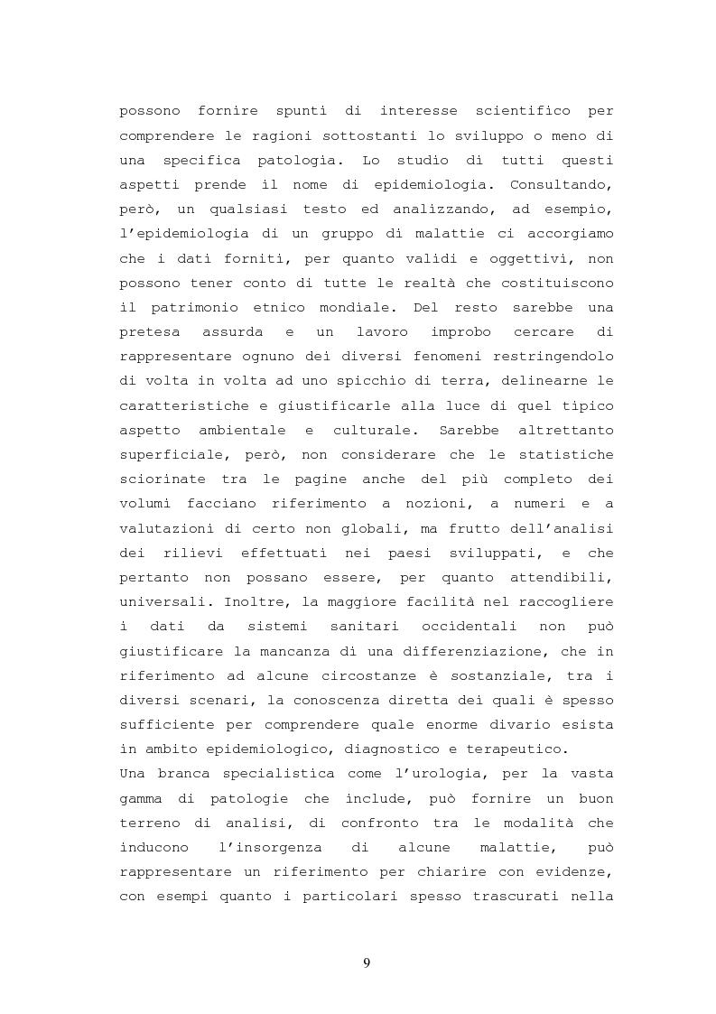 Anteprima della tesi: Patologie urologiche e welfare: confronto tra realtà italiana e di alcune aree del Sud America, Pagina 6