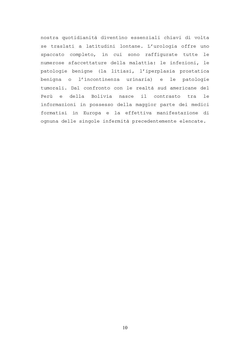 Anteprima della tesi: Patologie urologiche e welfare: confronto tra realtà italiana e di alcune aree del Sud America, Pagina 7