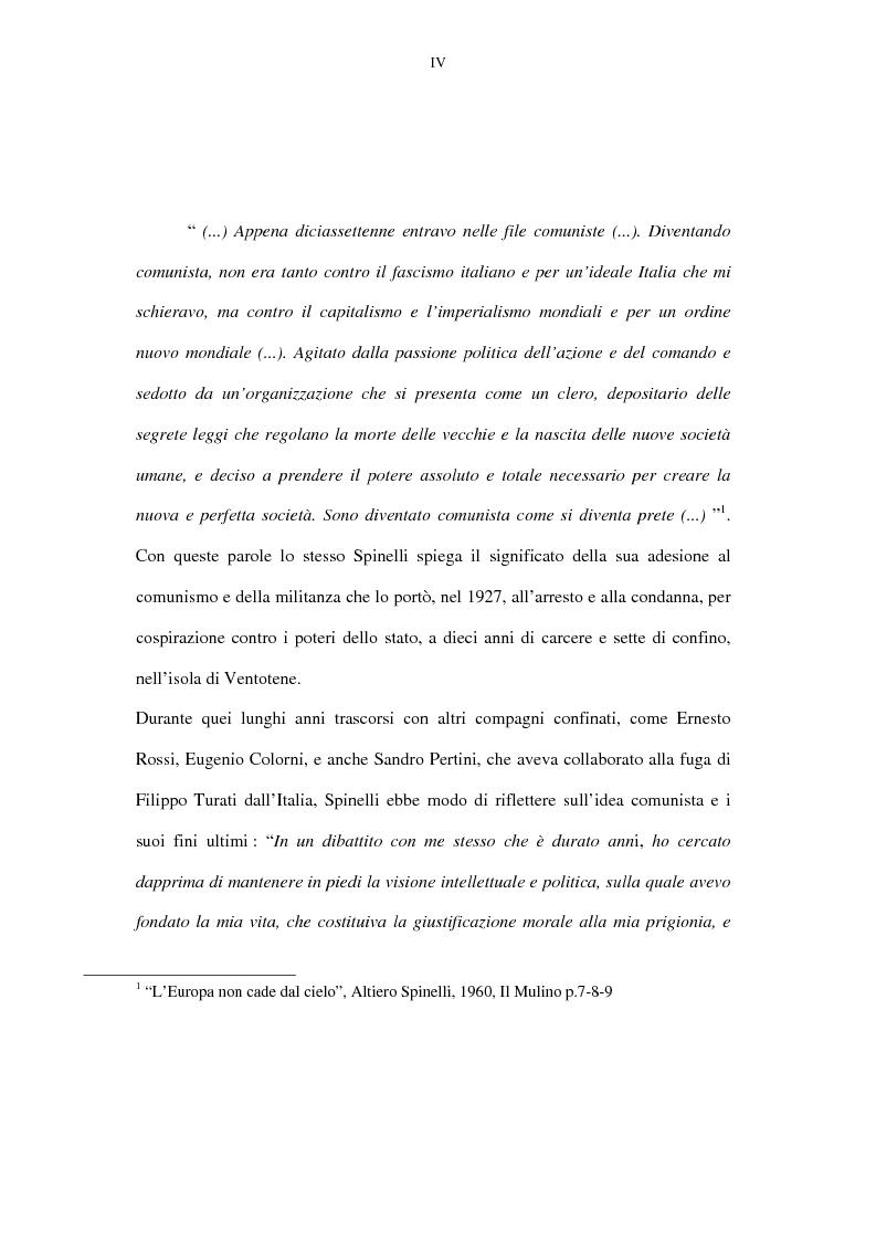 Anteprima della tesi: La lunga battaglia di Altiero Spinelli e del Club del Coccodrillo, Pagina 1