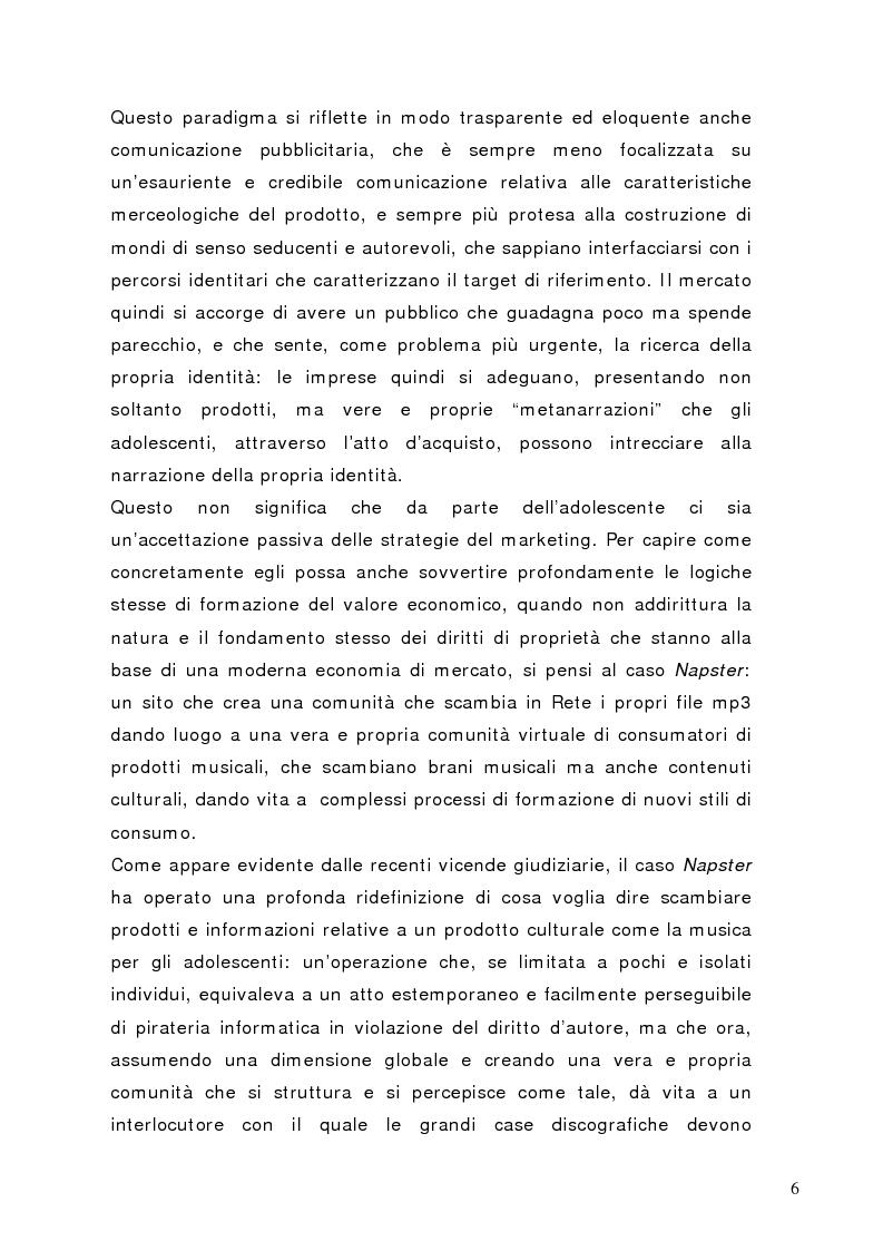 Anteprima della tesi: Tra conformismo e innovazione: il ruolo del consumo nella costruzione dell'identità negli adolescenti, Pagina 3