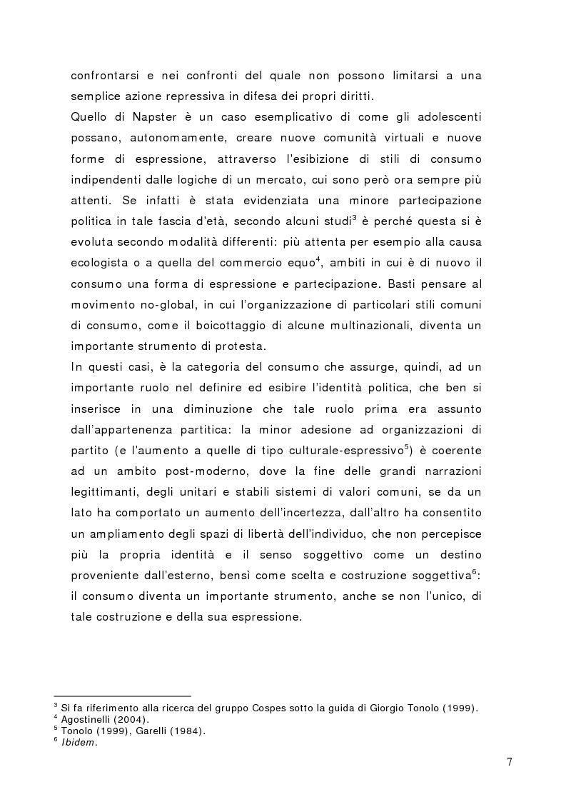 Anteprima della tesi: Tra conformismo e innovazione: il ruolo del consumo nella costruzione dell'identità negli adolescenti, Pagina 4