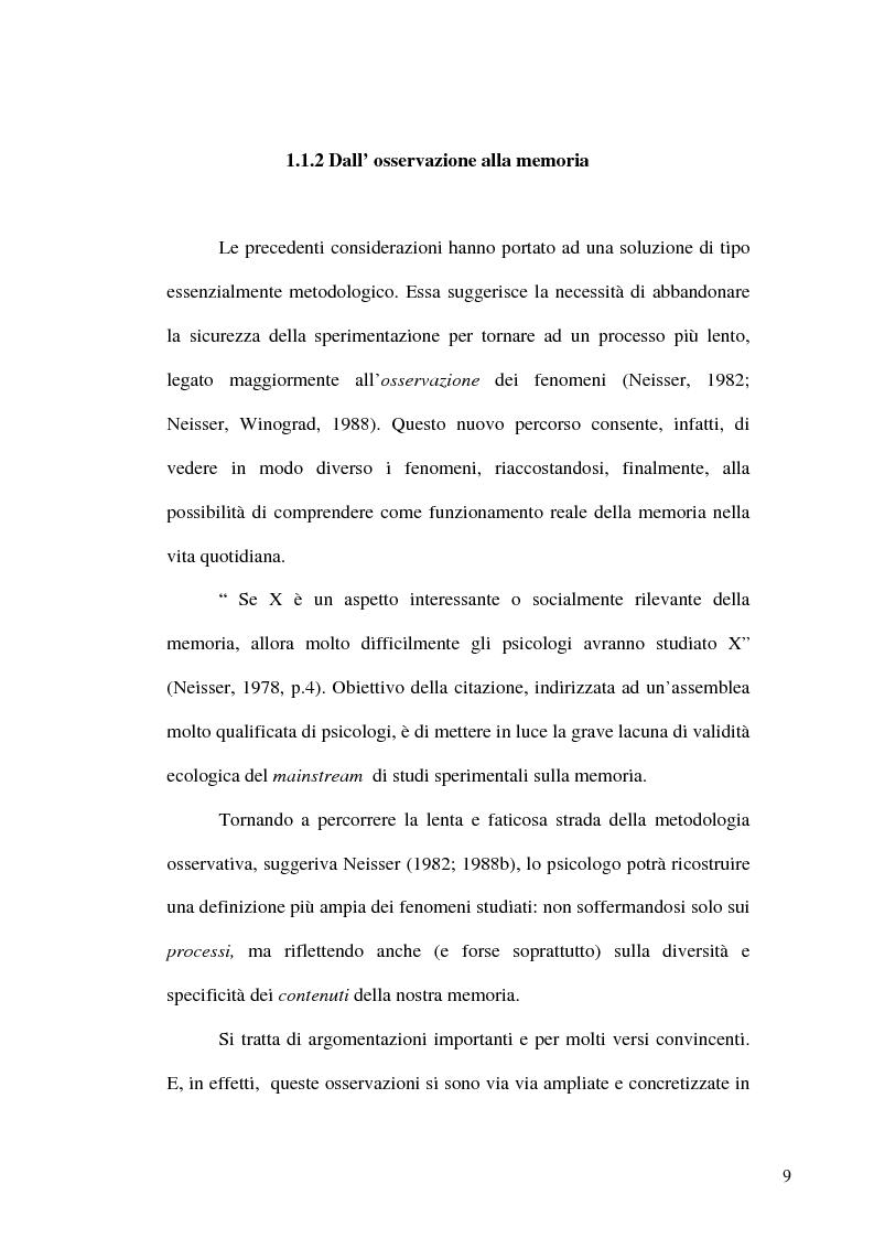 Anteprima della tesi: Natura sociale della Memoria, Pagina 6