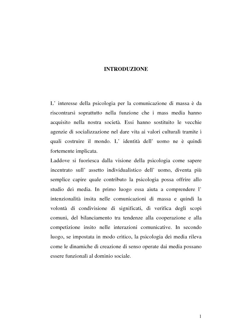 Anteprima della tesi: Strategie interpretative per la costruzione sociale della telerealtà, Pagina 1
