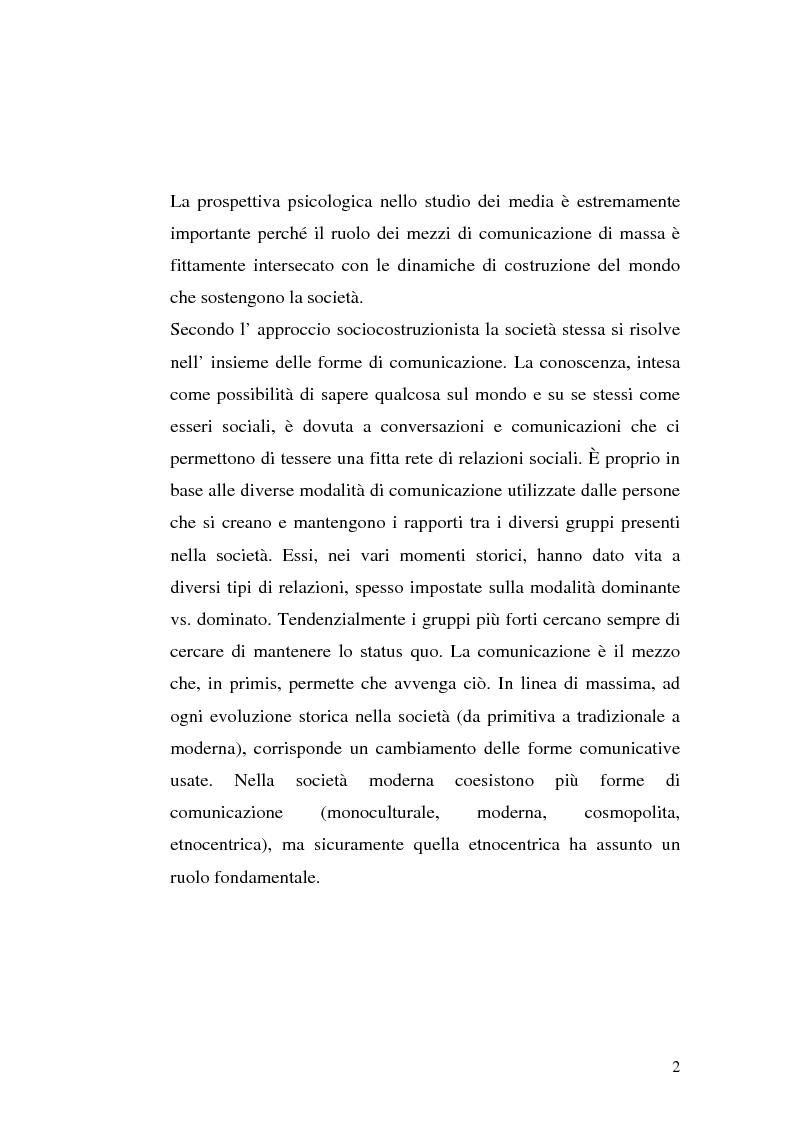 Anteprima della tesi: Strategie interpretative per la costruzione sociale della telerealtà, Pagina 2