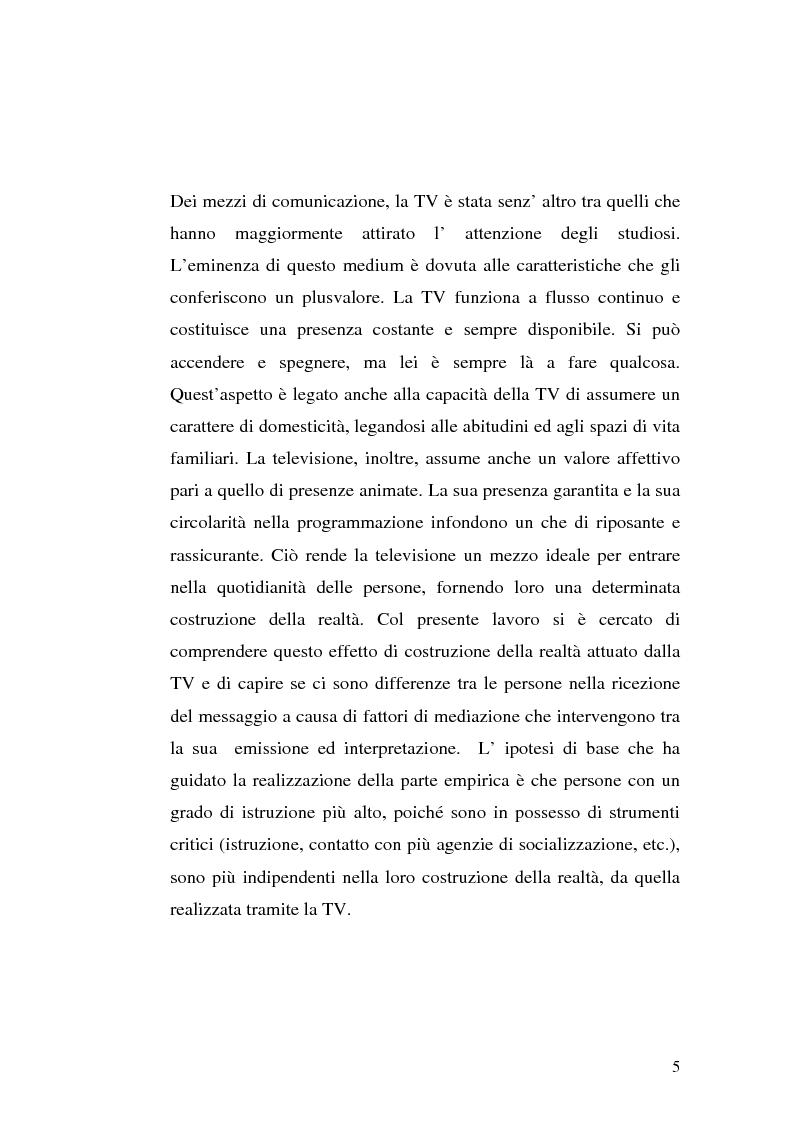 Anteprima della tesi: Strategie interpretative per la costruzione sociale della telerealtà, Pagina 5