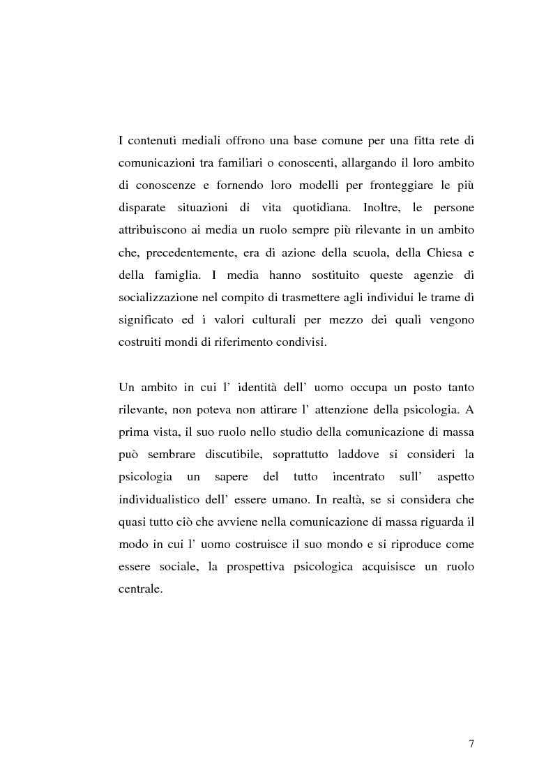 Anteprima della tesi: Strategie interpretative per la costruzione sociale della telerealtà, Pagina 7