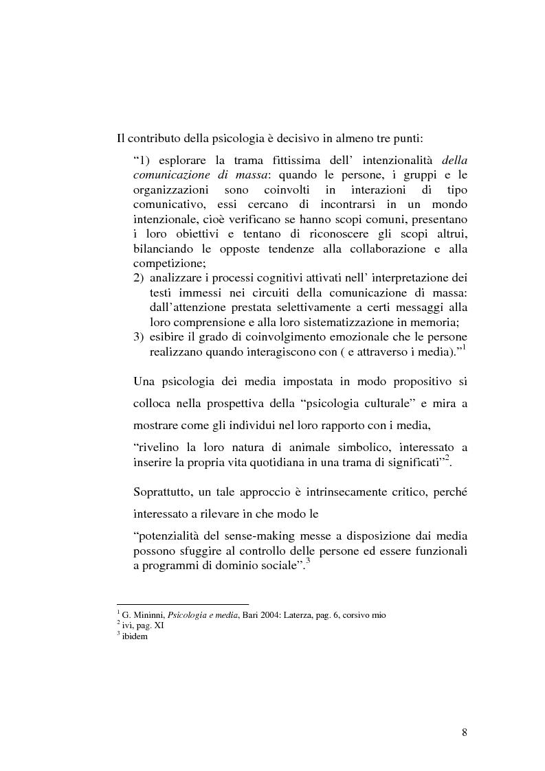 Anteprima della tesi: Strategie interpretative per la costruzione sociale della telerealtà, Pagina 8