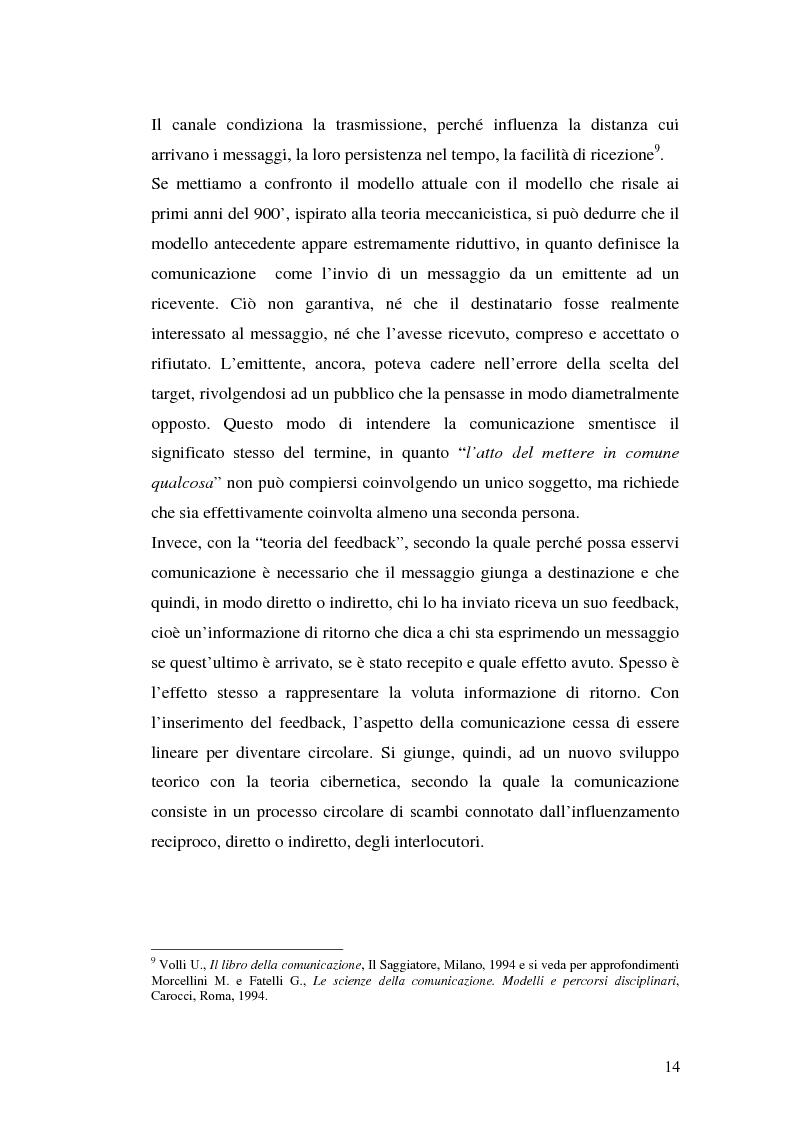 Anteprima della tesi: La comunicazione pubblicitaria delle imprese di servizi, Pagina 10