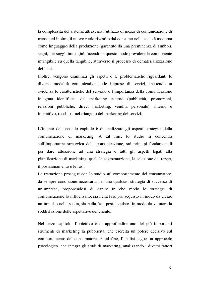 Anteprima della tesi: La comunicazione pubblicitaria delle imprese di servizi, Pagina 2