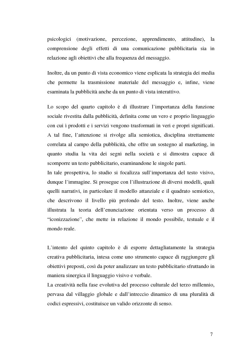 Anteprima della tesi: La comunicazione pubblicitaria delle imprese di servizi, Pagina 3