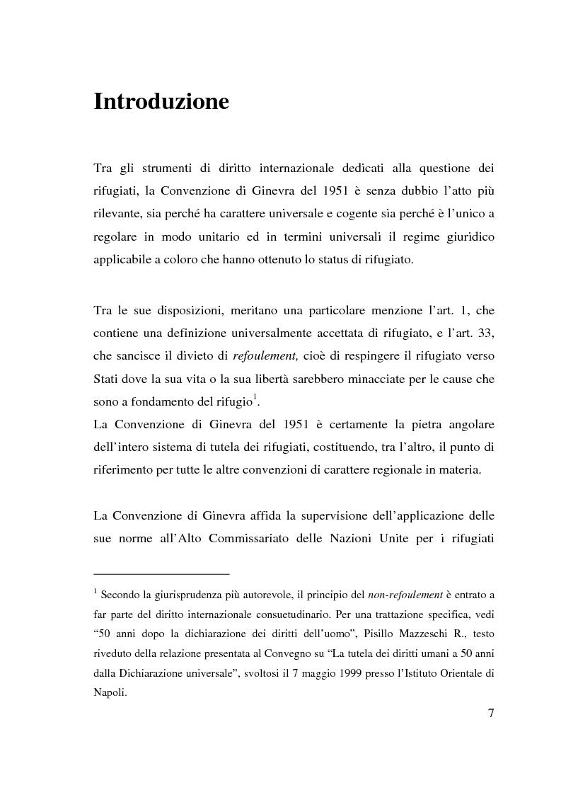 Anteprima della tesi: I beneficiari dell'attività dell'Alto Commissariato delle Nazioni Unite per i Rifugiati., Pagina 1