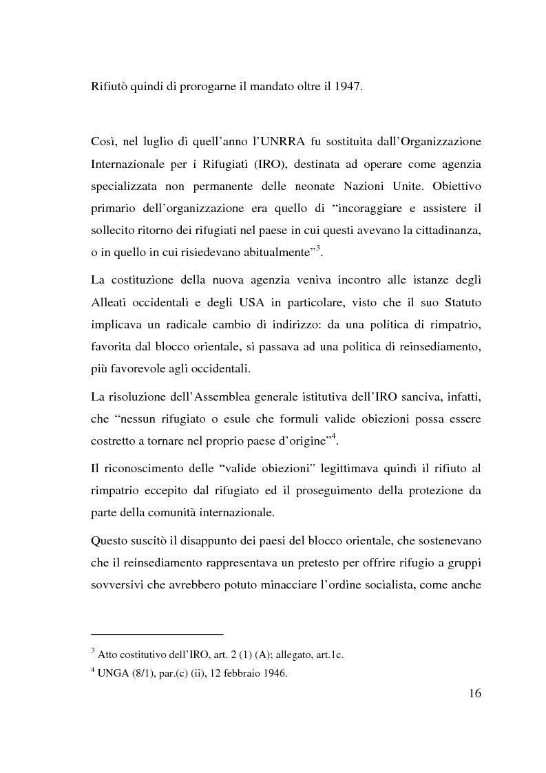 Anteprima della tesi: I beneficiari dell'attività dell'Alto Commissariato delle Nazioni Unite per i Rifugiati., Pagina 10