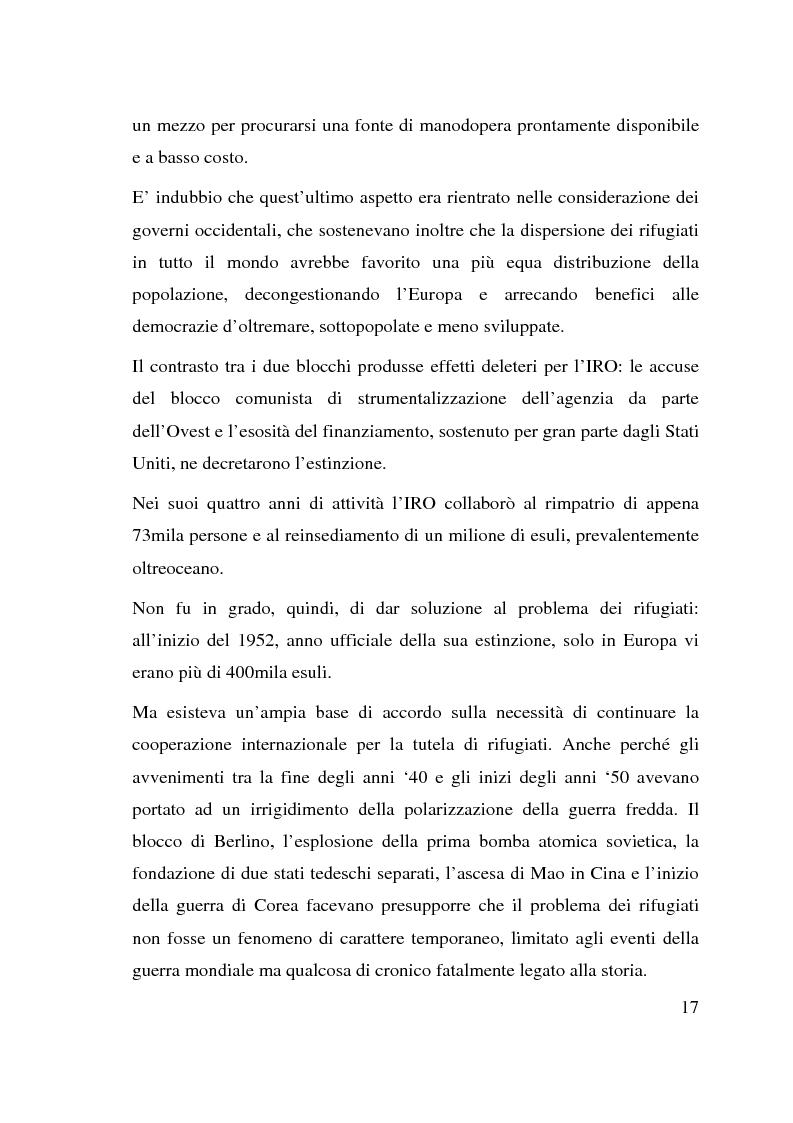 Anteprima della tesi: I beneficiari dell'attività dell'Alto Commissariato delle Nazioni Unite per i Rifugiati., Pagina 11