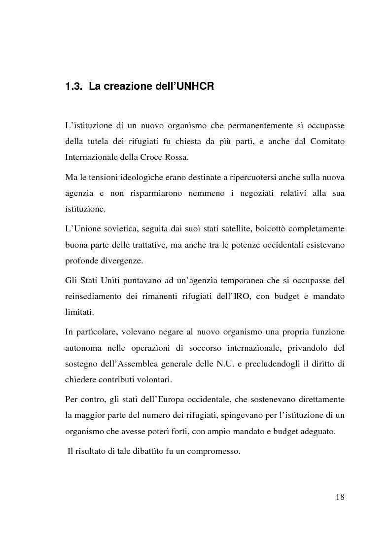 Anteprima della tesi: I beneficiari dell'attività dell'Alto Commissariato delle Nazioni Unite per i Rifugiati., Pagina 12