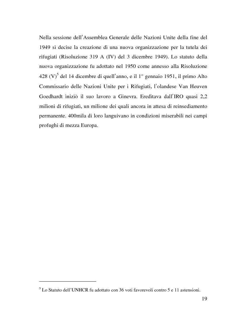 Anteprima della tesi: I beneficiari dell'attività dell'Alto Commissariato delle Nazioni Unite per i Rifugiati., Pagina 13