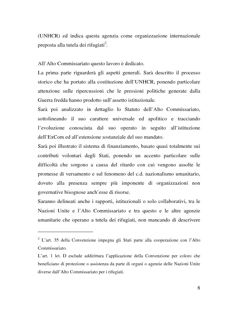 Anteprima della tesi: I beneficiari dell'attività dell'Alto Commissariato delle Nazioni Unite per i Rifugiati., Pagina 2