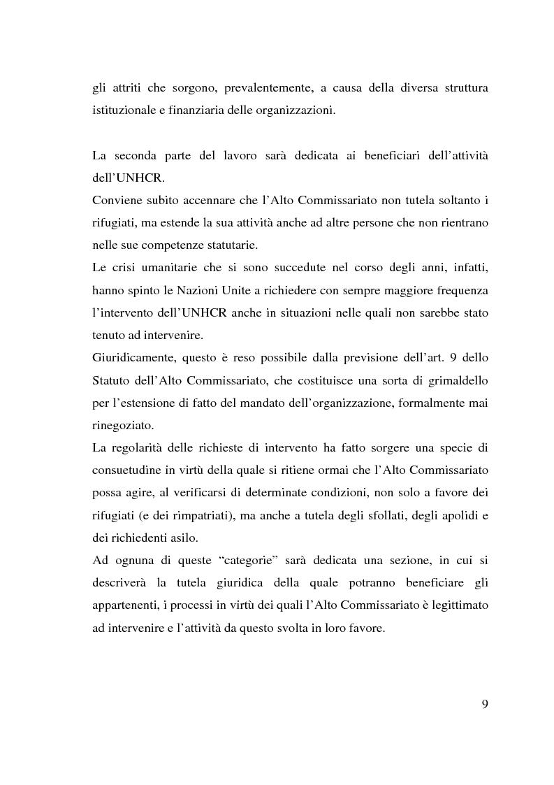 Anteprima della tesi: I beneficiari dell'attività dell'Alto Commissariato delle Nazioni Unite per i Rifugiati., Pagina 3