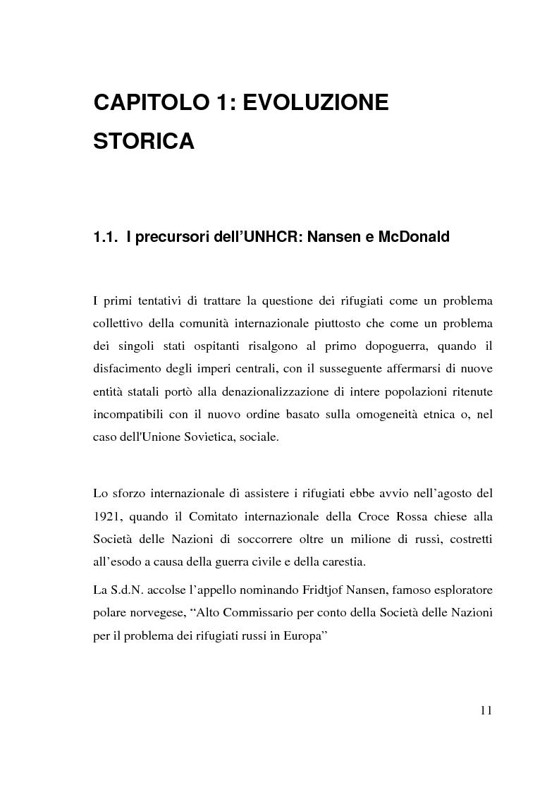 Anteprima della tesi: I beneficiari dell'attività dell'Alto Commissariato delle Nazioni Unite per i Rifugiati., Pagina 5