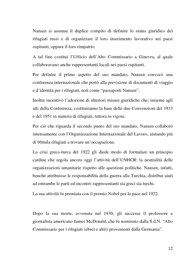 Anteprima della tesi: I beneficiari dell'attività dell'Alto Commissariato delle Nazioni Unite per i Rifugiati., Pagina 6
