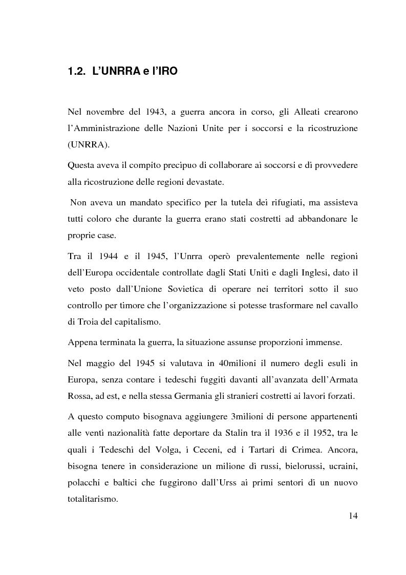 Anteprima della tesi: I beneficiari dell'attività dell'Alto Commissariato delle Nazioni Unite per i Rifugiati., Pagina 8