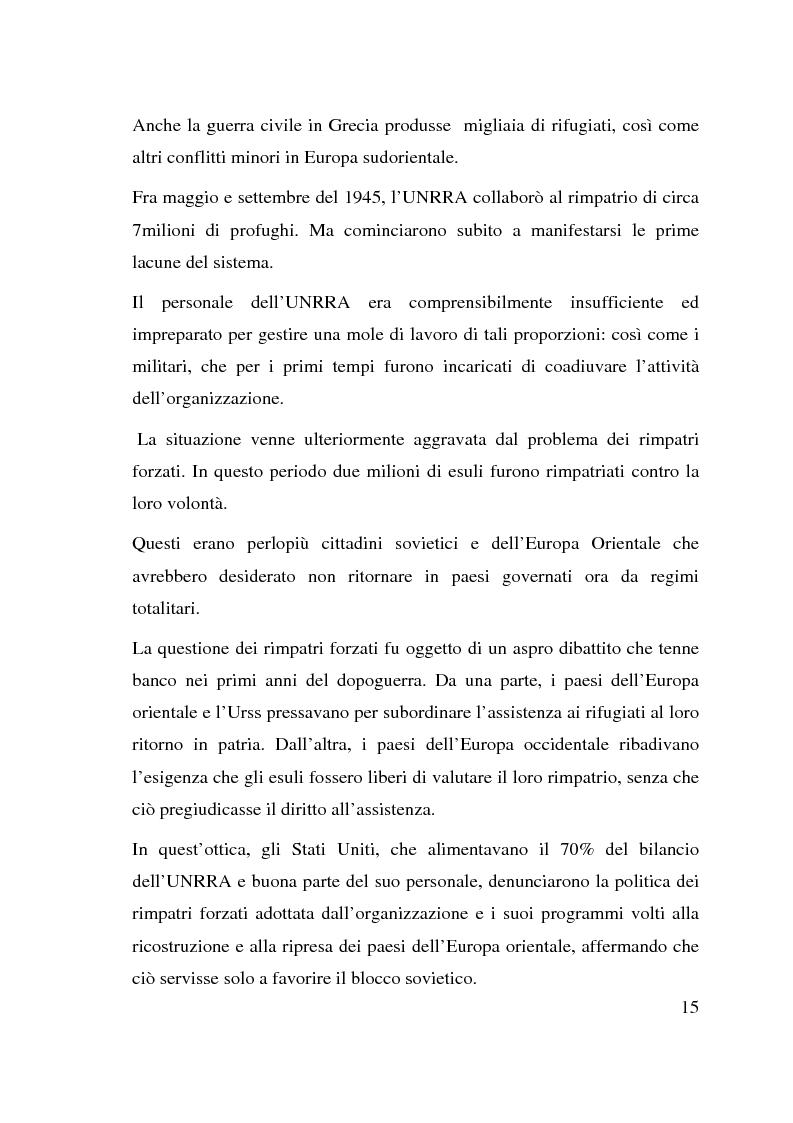 Anteprima della tesi: I beneficiari dell'attività dell'Alto Commissariato delle Nazioni Unite per i Rifugiati., Pagina 9