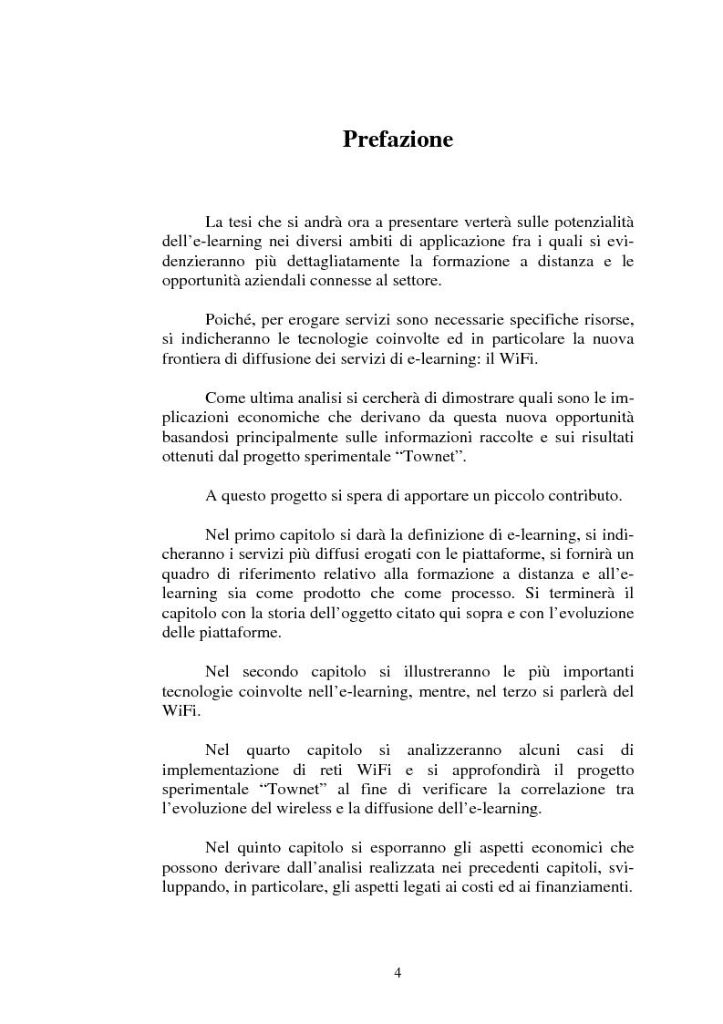 Anteprima della tesi: I servizi di e-learning distribuiti su reti WiFi, Pagina 1